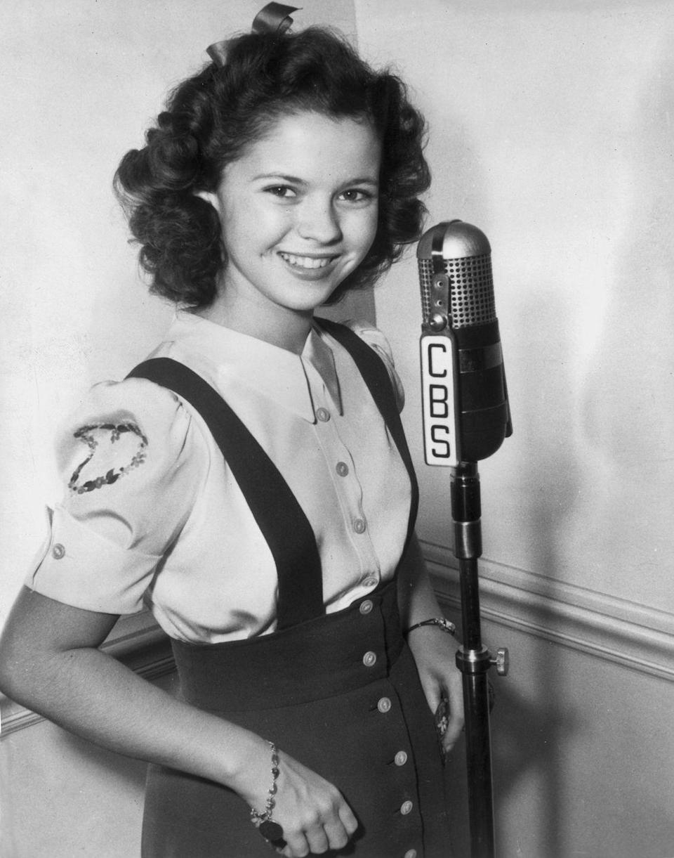 """<p>Debuting in 1942, Shirley Temple had her own radio series on CBS named """"Junior Miss.""""</p>"""