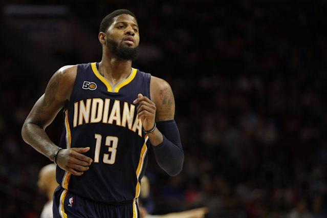 Paul George played seven seasons with the Pacers. (AP)