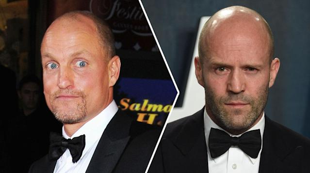 A composite image showing actors Woody Harrelson (left) and Jason Statham (right). (Evan Agostini/Invision/AP-Tony Barson/WireImage)