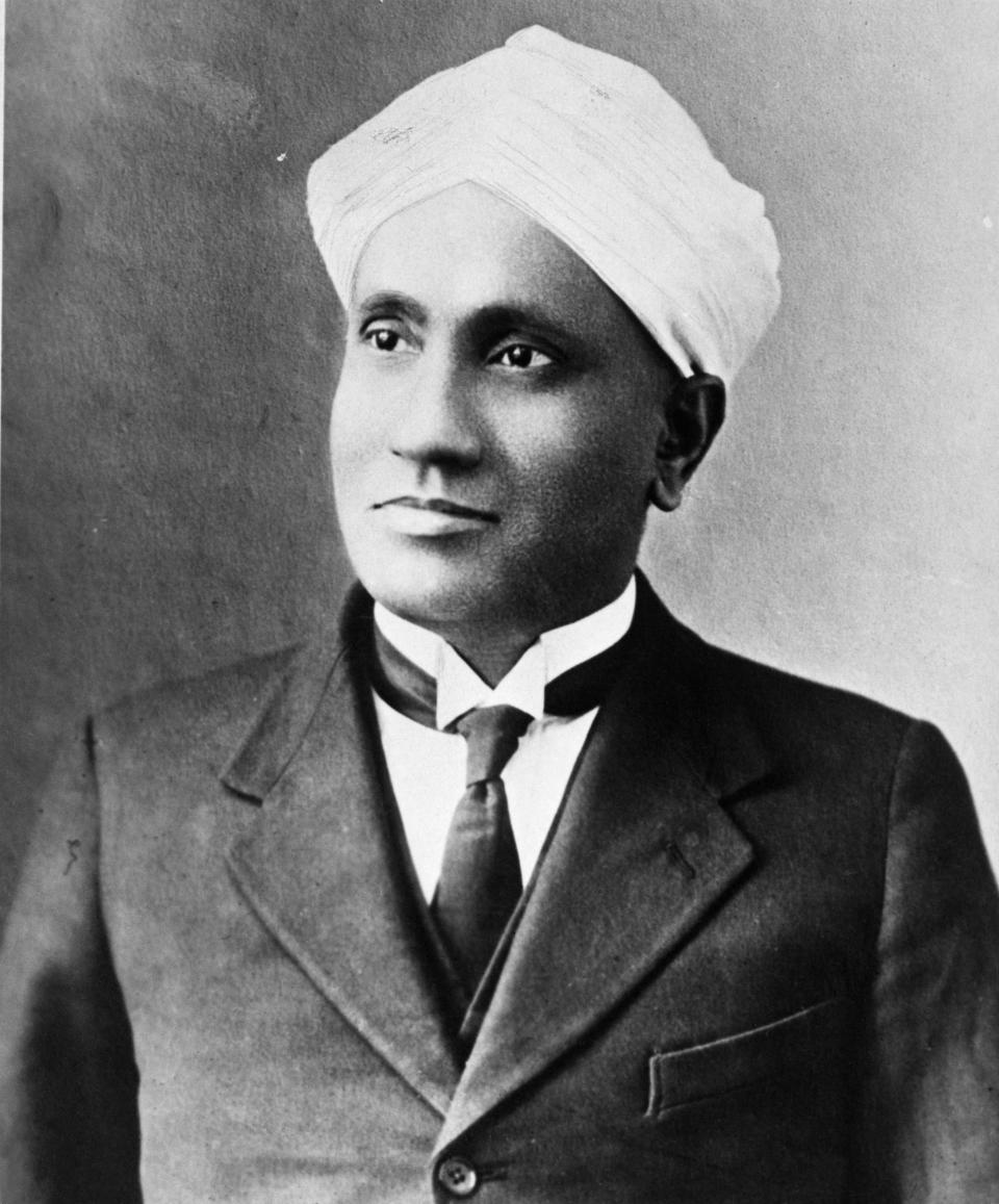 A brilliant physicist, Dr C V Raman, did some pathbreaking work on the scattering of light which earned him the Nobel Prize for Physics in 1930. He discovered that when light while traversing through anything transparent changes wavelength and amplitude: a phenomenon called the Raman Effect. He was honoured with India's highest civilian award, the Bharat Ratna, in 1954. <em>(Original Caption) 12/8/1930- Second Indian to be honored with a Nobel Prize award is the eminent scientist Dr. Sir C.V. Raman, recipient of the 1930 Nobel Prize for physics. The first to win one of these coveted prizes was Sir Rabindranath Tagore, noted poet and philosopher.</em>