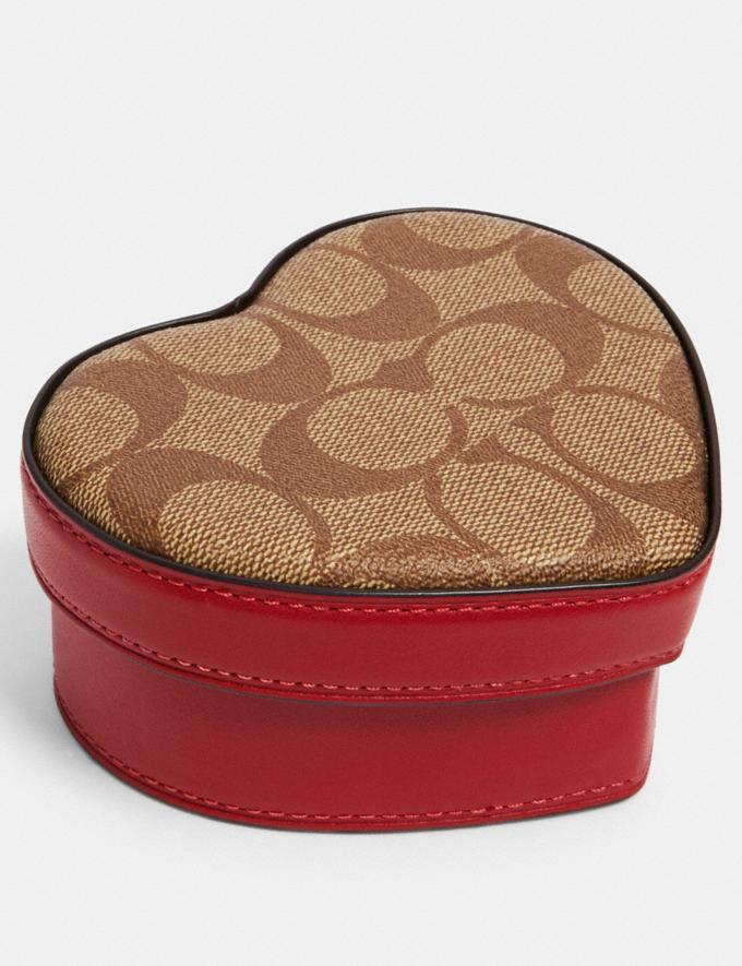 Heart Trinket Box In Signature Canvas. Image via Coach Outlet.