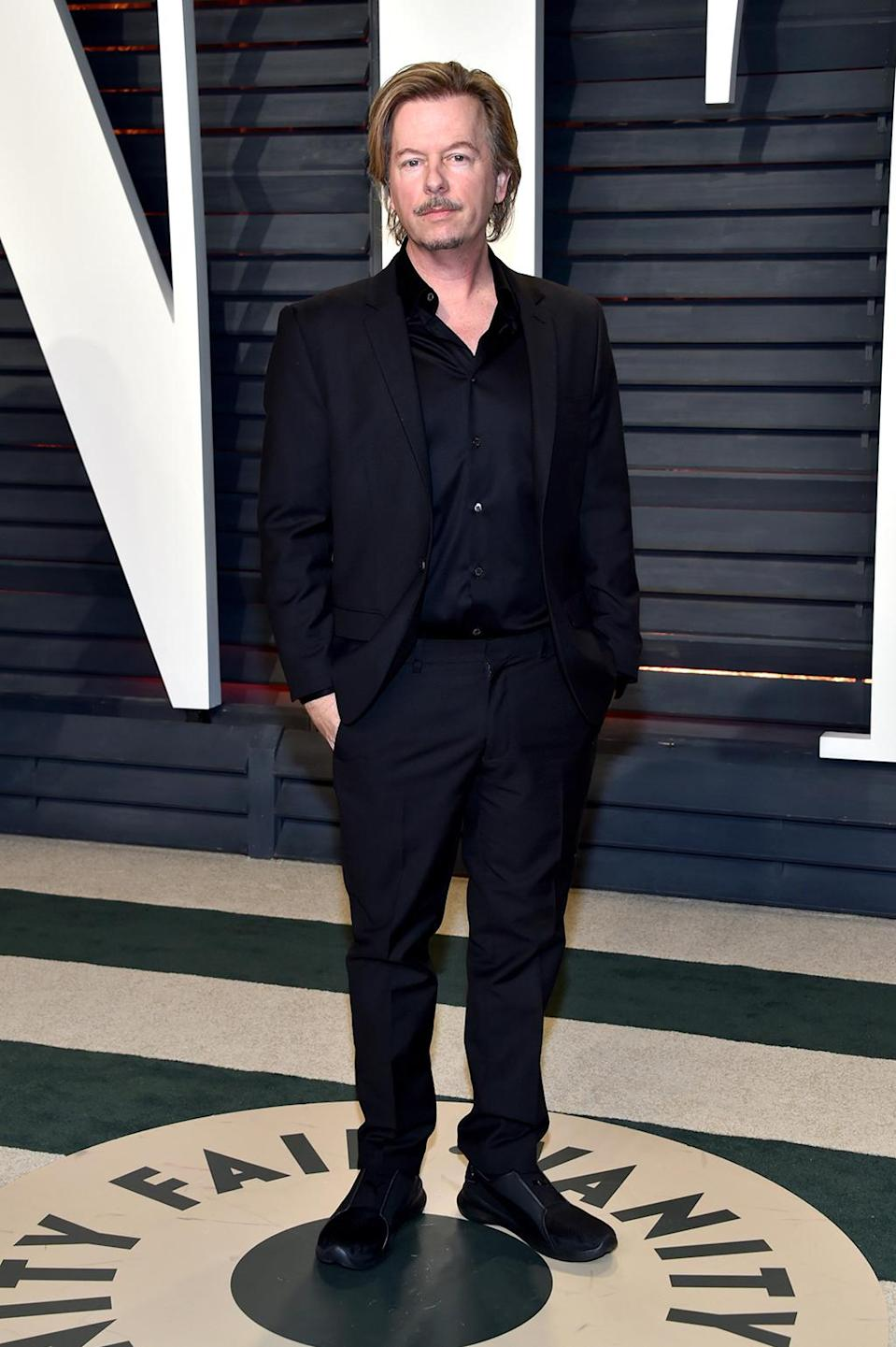 <p>David Spade attends the 2017 Vanity Fair Oscar Party hosted by Graydon Carter at Wallis Annenberg Center for the Performing Arts on February 26, 2017 in Beverly Hills, California. (Photo by Pascal Le Segretain/Getty Images) </p>