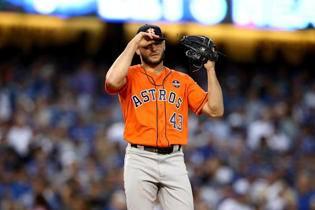 Lance McCullers lost his control a few times in Game 7 of the World Series. (Getty Images)
