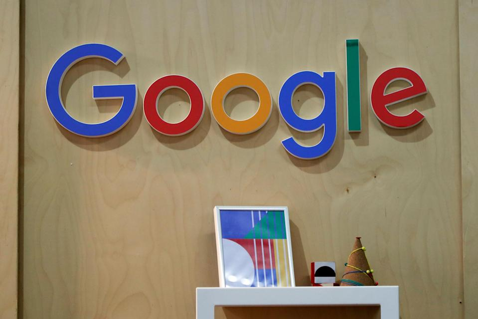 The Google logo is seen at the Young Entrepreneurs fair in Paris, France, February 7, 2018. REUTERS/Charles Platiau
