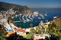 <p>You'll find this popular tourist destination along the southeast side of Catalina Island, just a short ride from Los Angeles. Enjoy the beaches and shops, or take a cruise around the island to spot dolphins and sea lions. </p>