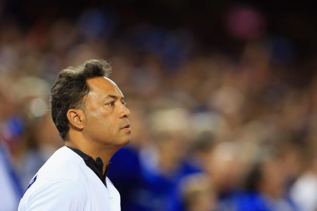 Hall of Famer Roberto Alomar has been fired by MLB amid a sexual misconduct allegation, according to a statement the league released Friday. (Vaughn Ridley/Getty Images - image credit)