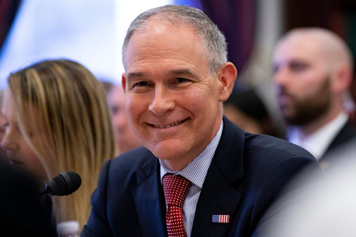 EPA Administrator Scott Pruitt testifies before the House Appropriations Committee during a hearing on April 26. (Photo: Alex Edelman via Getty Images)
