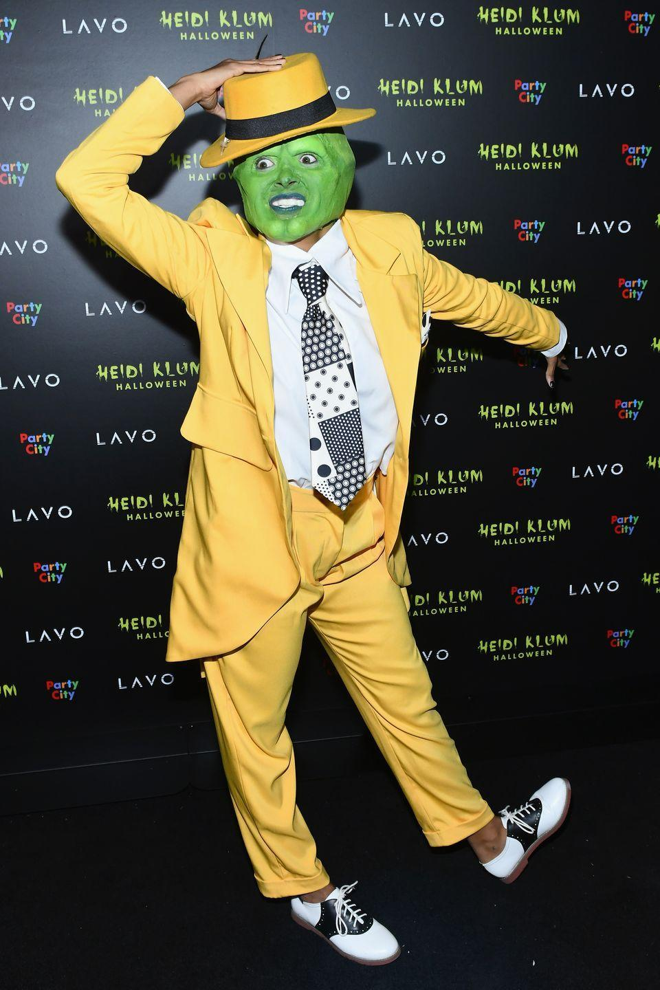 <p>There's no way you could ever guess that was the <em>Vampire Diaries </em>star. But it really is! The actress went all out at Heidi Klum's Halloween Party when she arrived as Jim Carrey's infamous character from <em>The Mask</em>. </p>