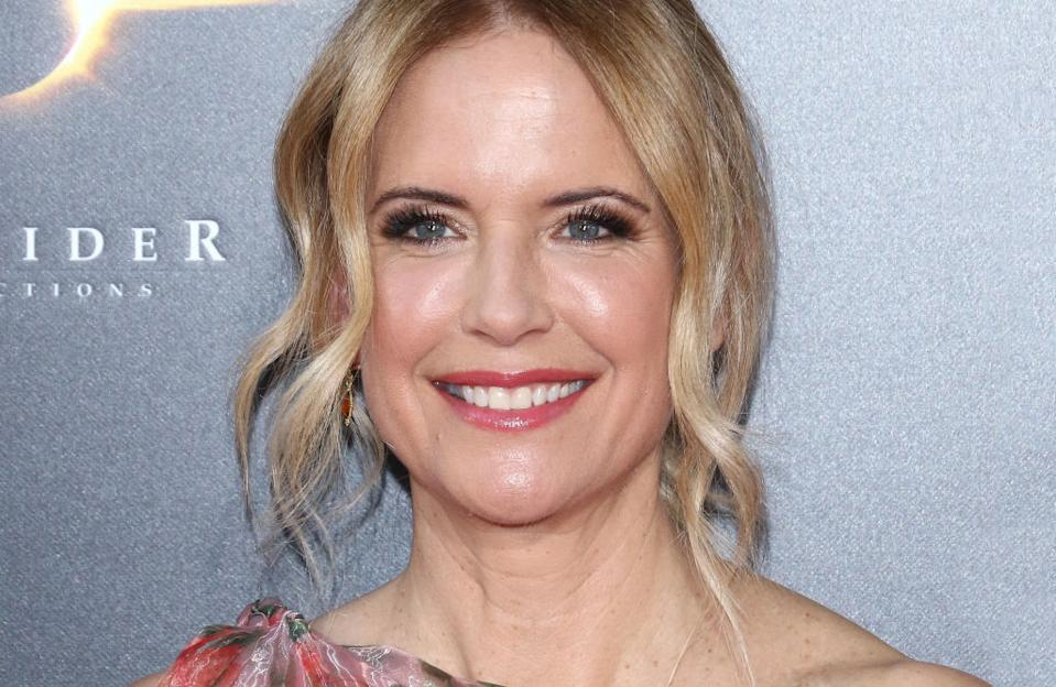 Kelly Preston has tragically passed away after a two year battle with breast cancer, pictured at the premiere of Gotti in June 2018. (Getty Images)