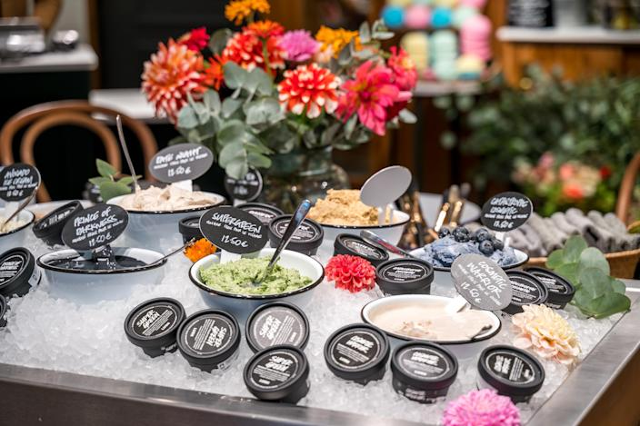 Fresh face masks by Lush are available from stores and online Lush.com.