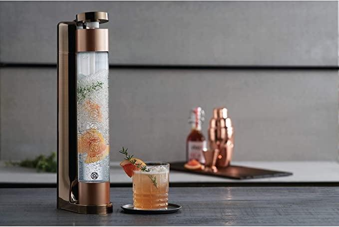 <p>If you love LaCroix, you can make your own with the <span>Twenty39 Qarbo Sparkling Water Maker and Fruit Infuser</span> ($119). The sleek design also looks stunning on the counter.</p>