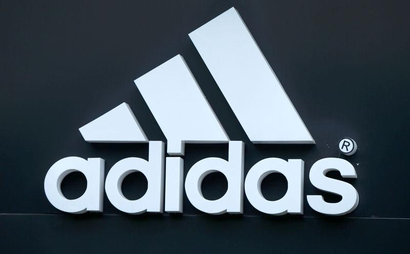 FILE PHOTO: Logo of Adidas logo is seen on ta store in Yerevan