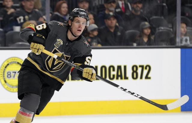 Vegas Golden Knights left wing Erik Haula (AP Photo/John Locher)
