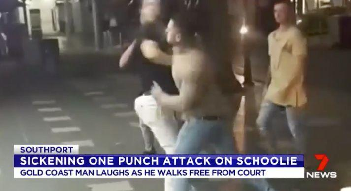He attacked a 19-year-old man in Surfers Paradise. Source: 7 News
