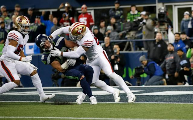 Flex scheduling provided NBC and prime-time viewers one of the NFL's most dramatic moments this season. (Michael Zagaris/San Francisco 49ers/Getty Images)