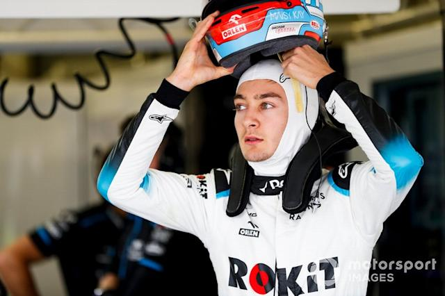 """9.- George Russell, Williams Racing <span class=""""copyright"""">Zak Mauger / Motorsport Images</span>"""