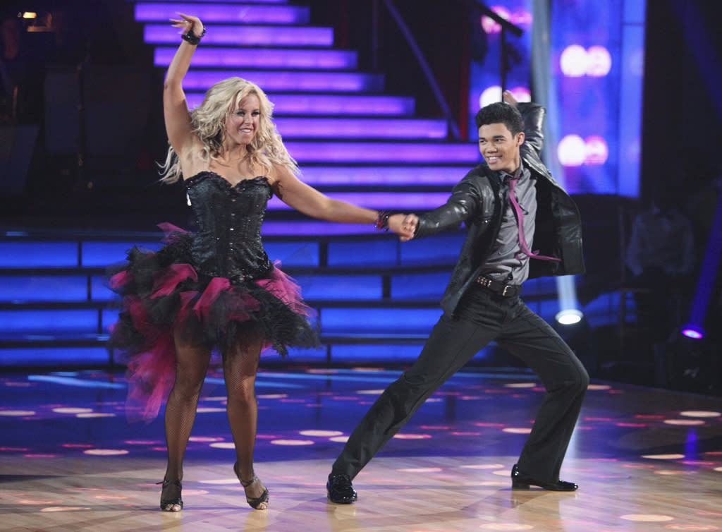 """Chelsie Hightower and Roshon Fegan perform on """"Dancing With the Stars."""""""
