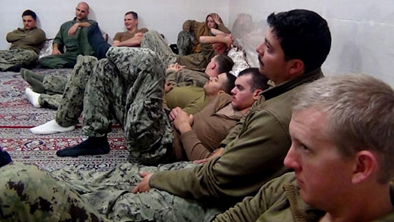 Iran has released 10 US navy sailors after holding them overnight.