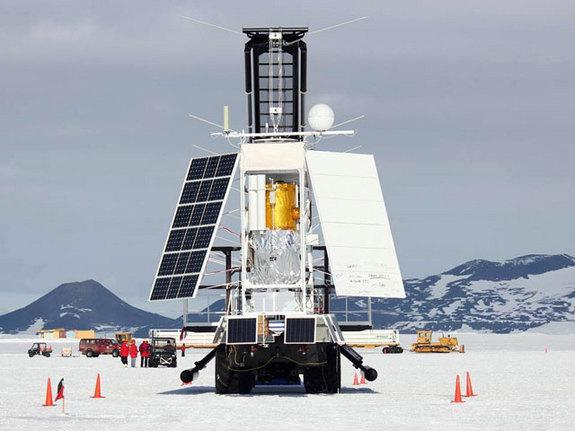 The Stratospheric Terahertz Observatory (STO) is prepared for launch from the Long Duration Balloon facility on Antarctica's McMurdo Ice Shelf in January 2012. The BRRISON project is leveraging existing STO hardware, particularly re-use of the