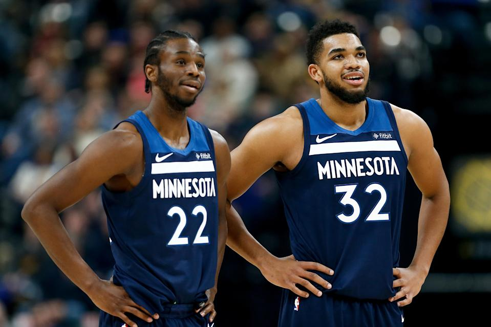 The time is now for Andrew Wiggins and Karl-Anthony Towns. (Getty)