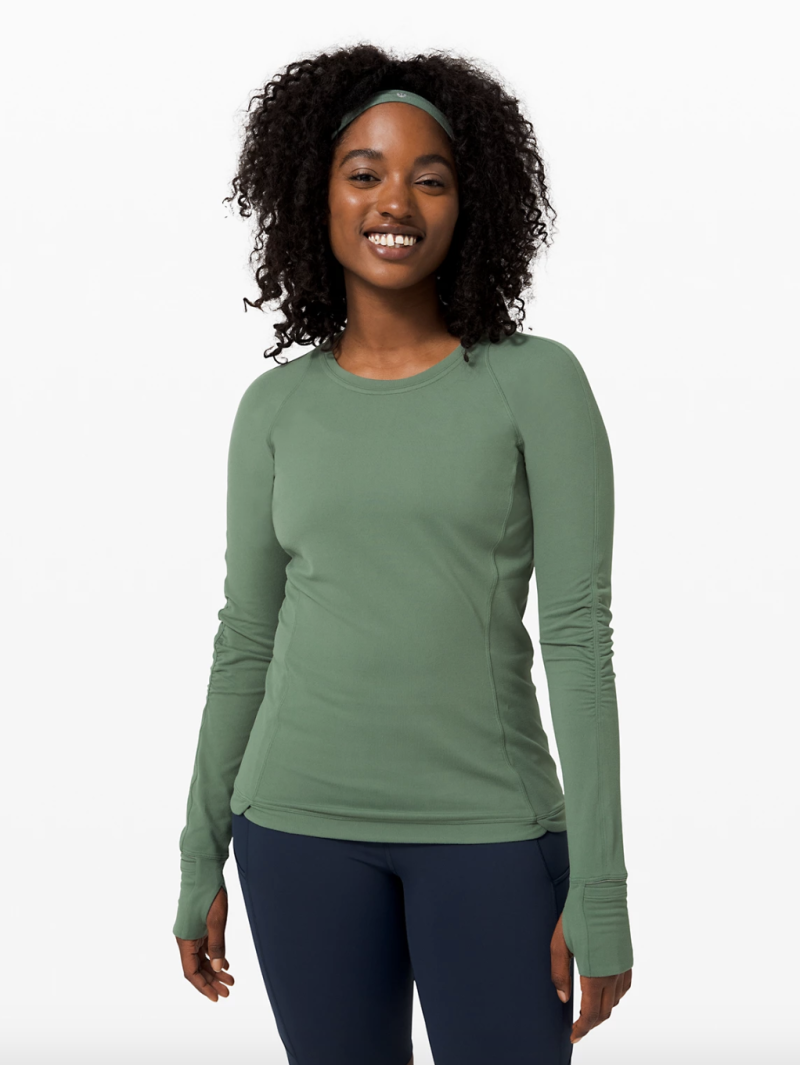 Runderful Long Sleeve in green algae