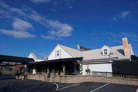 FILE PHOTO: A general view of Creed's Seafood and Steak Restaurant, in King of Prussia, Pennsylvania, U.S., December 1, 2017.  Pennsylvania's 7th congressional district is drawn so narrowly at one point its width is entirely that of the restaurant.   REUTERS/Mark Makela/File Photo