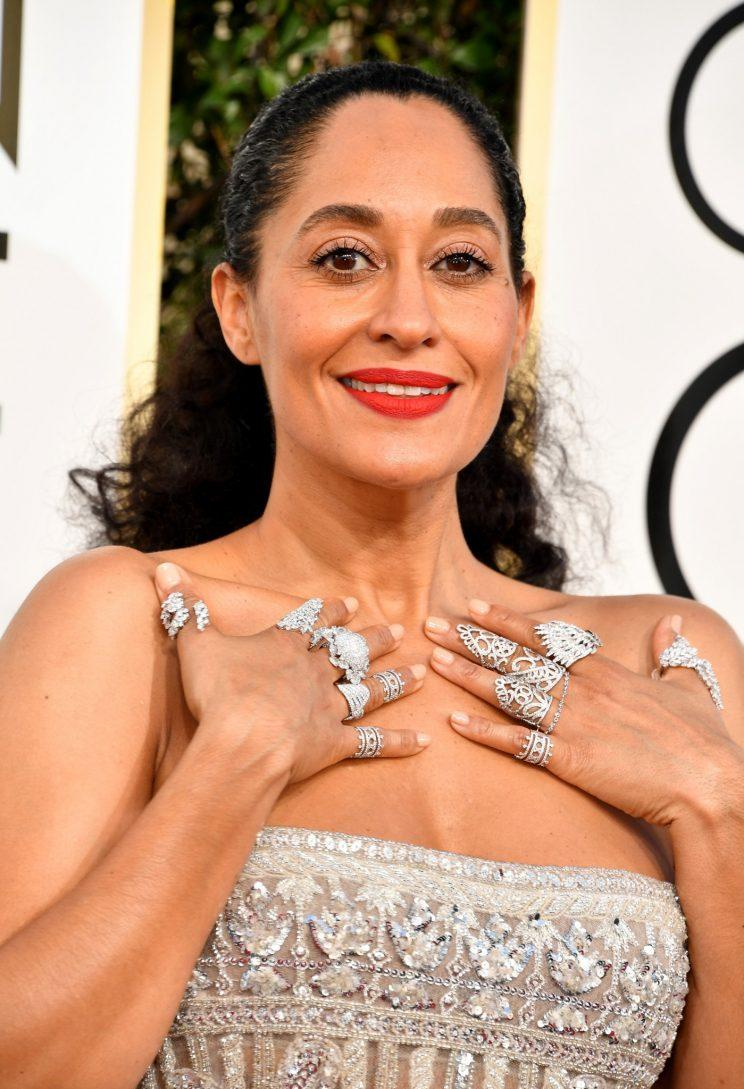 Tracee Ellis Ross attends the 74th Golden Globe Awards. (Photo: Getty Images)