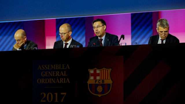 Barcelona president Josep Maria Bartomeu says the club have no plans to leave LaLiga following the approval of a record €897million budget.