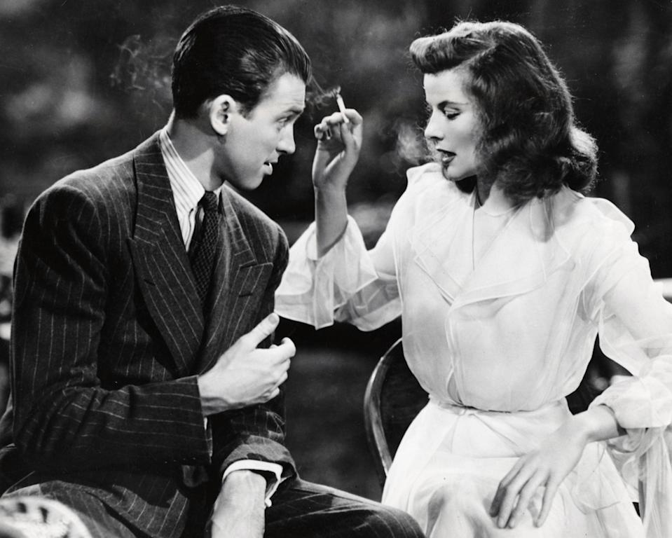 James Stewart and Katharine Hepburn in 'The Philadelphia Story'MGM/Kobal/Shutterstock