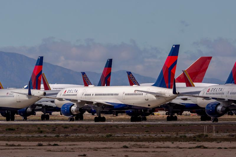 Grounded Planes Delta Air Lines