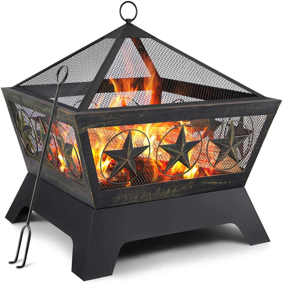 """<br><br><strong>AMAGABELI GARDEN & HOME</strong> Outdoor Wood Burning 24in Fire Pit, $, available at <a href=""""https://amzn.to/3u78ffy"""" rel=""""nofollow noopener"""" target=""""_blank"""" data-ylk=""""slk:Amazon"""" class=""""link rapid-noclick-resp"""">Amazon</a>"""