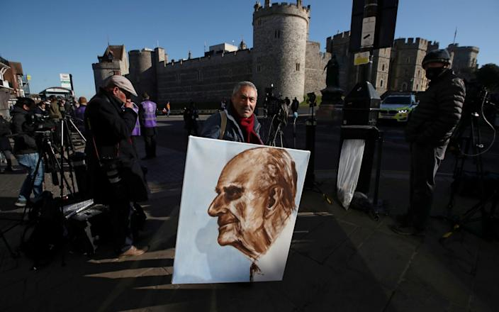 Artist Kaya Mar paid tribute to Prince Philip in an oil painting - Reuters