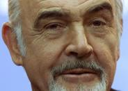 FILE PHOTO: British actor Sean Connery looks on during a news conference in Berlin