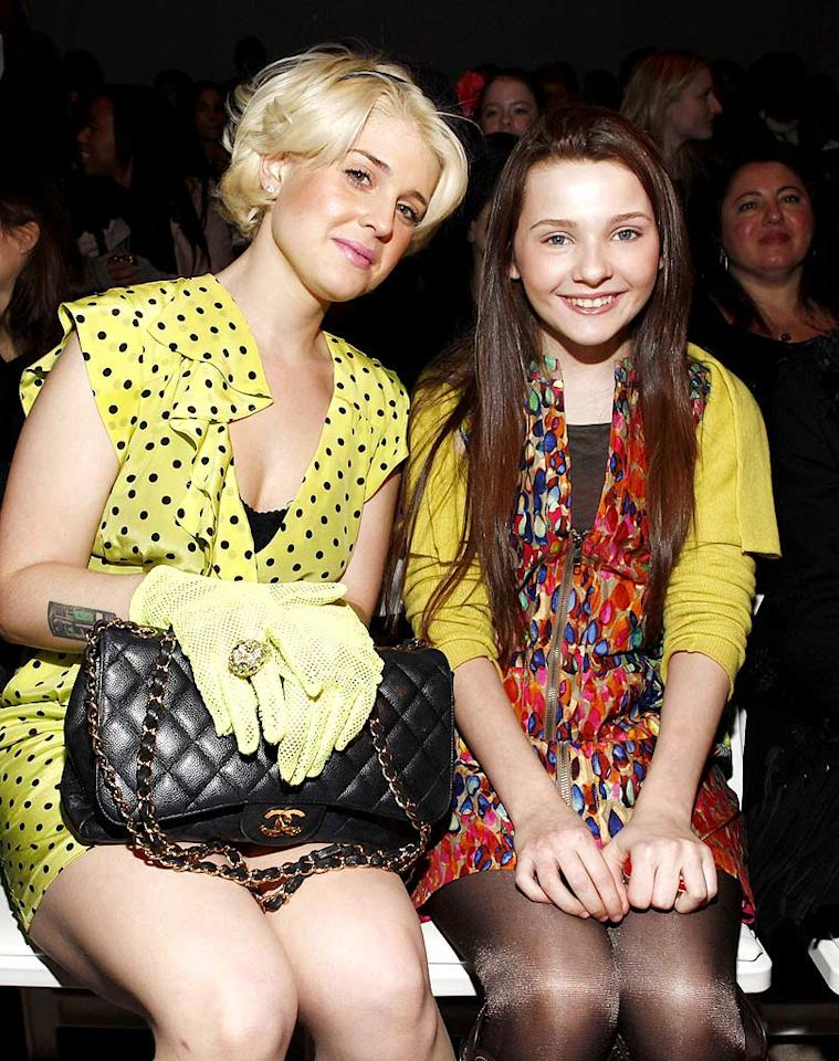 "Surprise fashion week star Kelly Osbourne rocked another cute outfit as she and ""Little Miss Sunshine"" actress Abigail Breslin sat front row at the Nanette Lepore fall show. Abigail confided to the press that this was her first big fashion show. Hope she enjoyed it! Mark Von Holden/<a href=""http://www.wireimage.com"" target=""new"">WireImage.com</a> - February 17, 2010"