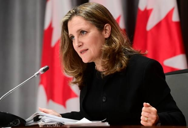 Federal Finance Minister Chrystia Freeland presented her first budget on Monday. (Sean Kilpatrick/The Canadian Press - image credit)