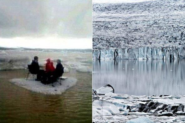 American tourists rescued after having picnic on iceberg