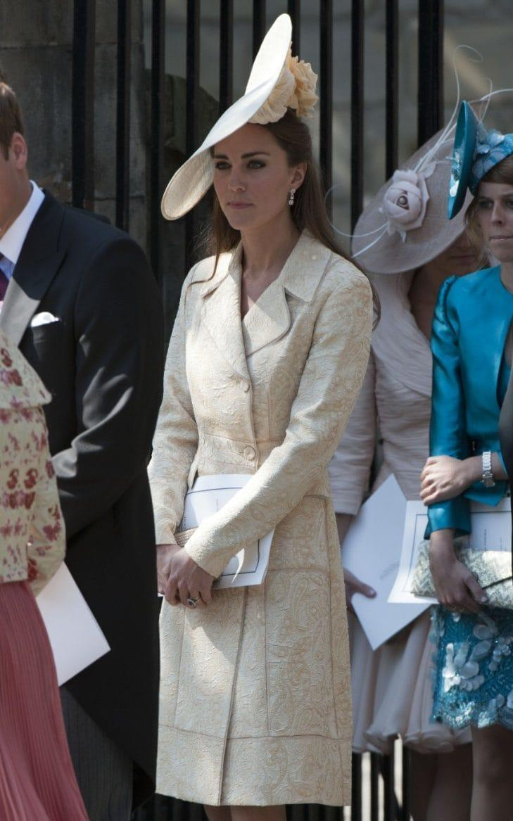 The Duchess of Cambridge at the wedding of Zara Phillips and Mike Tindall - Credit: Tim Rooke/REX/Shutterstock