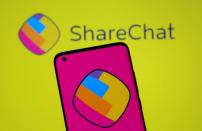 ShareChat logos are seen in this illustration taken
