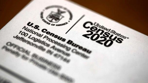 PHOTO: An envelope containing a 2020 census letter mailed to a U.S. resident is pictured in Glenside, Penn., March 19, 2020. (Matt Rourke/AP, FILE)
