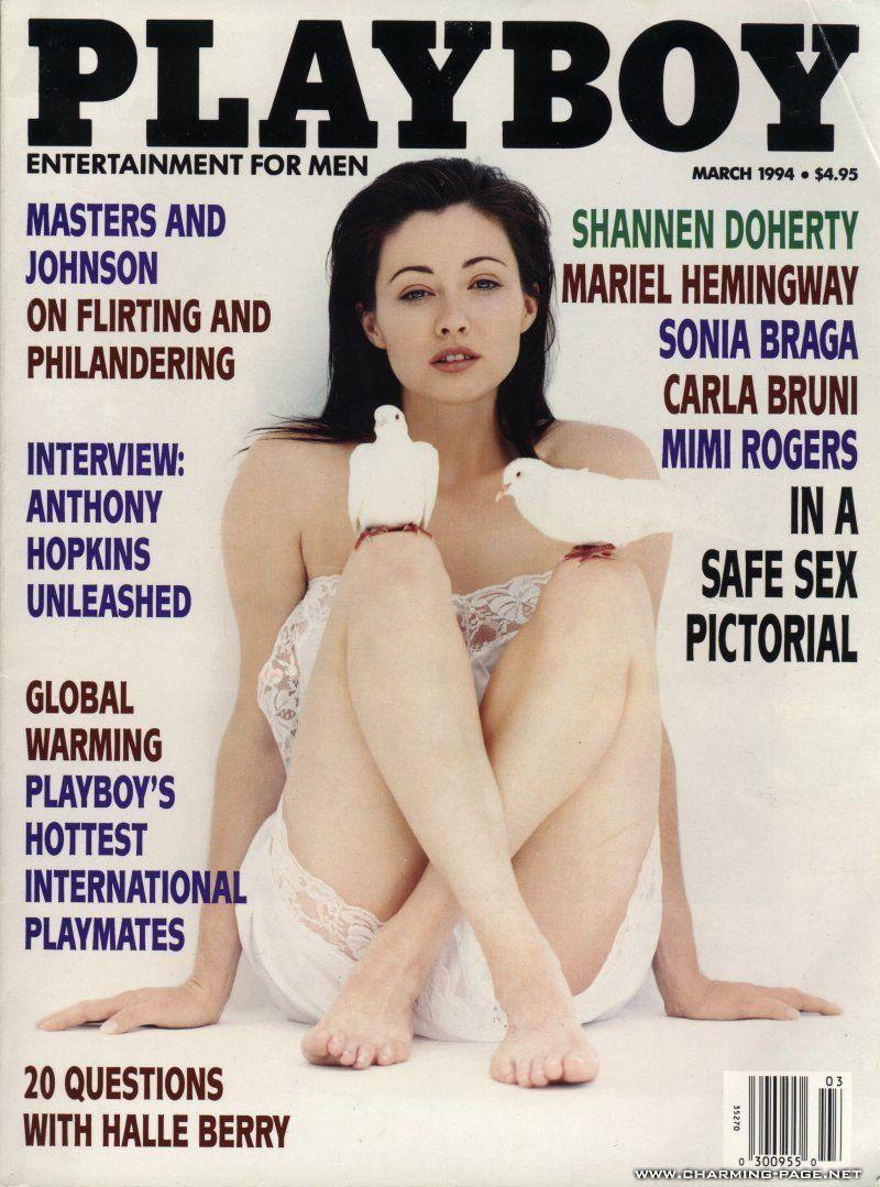 <p><strong>Issue: </strong>March 1994</p><p>Shannen Doherty has never done anything that wasn't unique and her doves-on-knees <em>Playboy </em>cover was no different. </p>