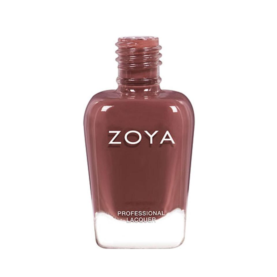 """<p>If Rachel Green's '90s brown lipstick had a modern-day nail polish equivalent, Zoya's Nail Polish in Foster would be it. It's brighter than you might expect when you hear """"brown polish,"""" thanks to warm pink undertones, and looks elegant and classic against any skin tone.</p> <p><strong>$10</strong> (<a href=""""https://www.zoya.com/content/item/Zoya/Zoya-Nail-Polish-in-Foster-ZP1003.html"""" rel=""""nofollow noopener"""" target=""""_blank"""" data-ylk=""""slk:Shop Now"""" class=""""link rapid-noclick-resp"""">Shop Now</a>)</p>"""