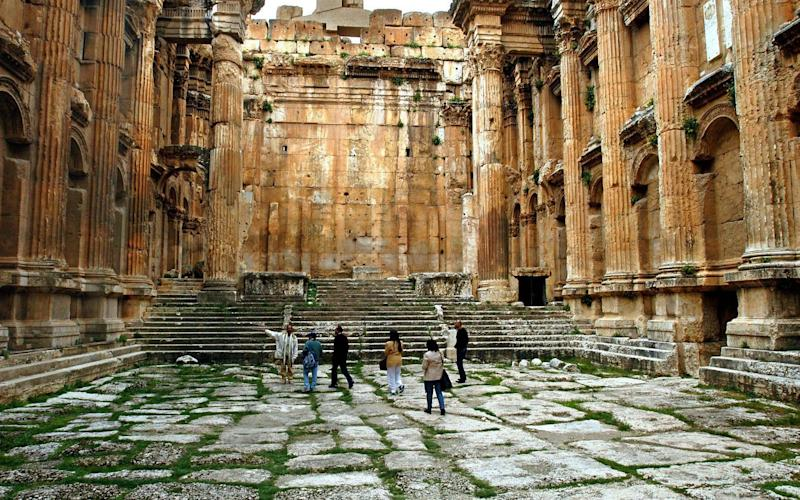 The temple of Bacchus in Lebanon's Beqaa Valley, built by the Canaanites - Credit: EPA
