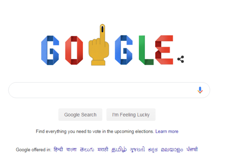 Google Doodle Focuses on Second Phase of Lok Sabha Elections 2019, Explains How to Vote