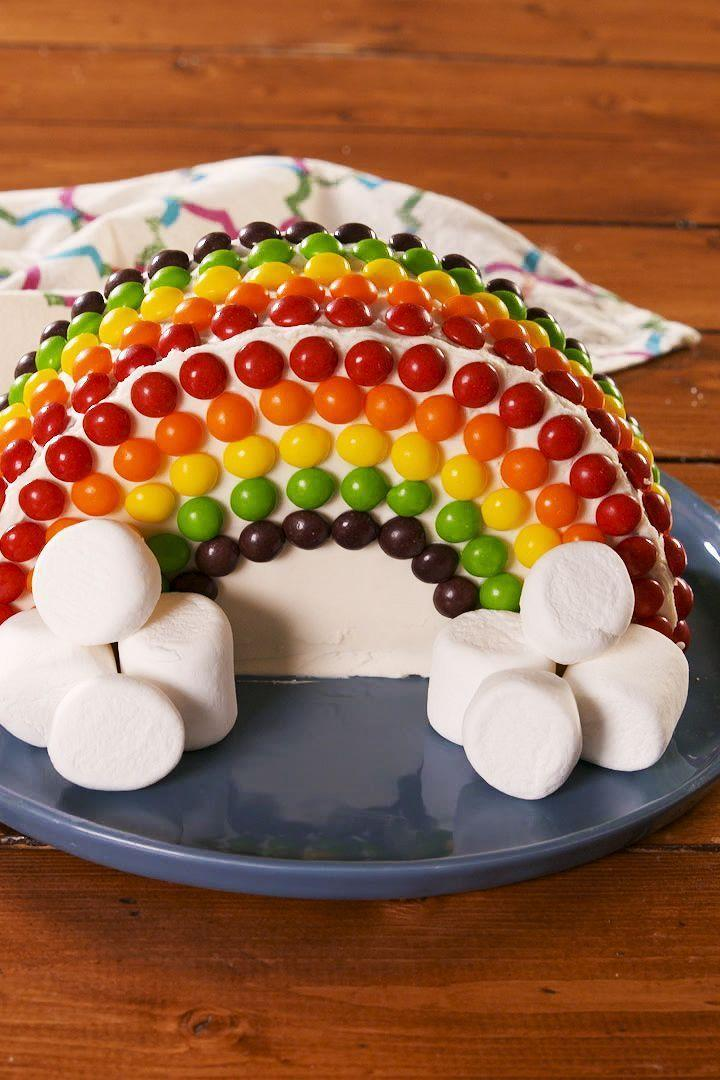"<p>Been asked to make a rainbow <a href=""https://www.delish.com/uk/cooking/a28783879/no-bake-birthday-cake-cheesecake-recipe/"" rel=""nofollow noopener"" target=""_blank"" data-ylk=""slk:birthday cake"" class=""link rapid-noclick-resp"">birthday cake</a>? Or have you woken up with a craving for a Skittles covered cake? If either of these things ring true, then you're going to LOVE our <a href=""https://www.delish.com/uk/cooking/recipes/a28827480/rainbow-swirl-cupcakes-recipe/"" rel=""nofollow noopener"" target=""_blank"" data-ylk=""slk:rainbow"" class=""link rapid-noclick-resp"">rainbow</a> creation. </p><p>Get the <a href=""https://www.delish.com/uk/cooking/recipes/a31222831/rainbow-cake/"" rel=""nofollow noopener"" target=""_blank"" data-ylk=""slk:Rainbow Cake"" class=""link rapid-noclick-resp"">Rainbow Cake</a> recipe. </p>"