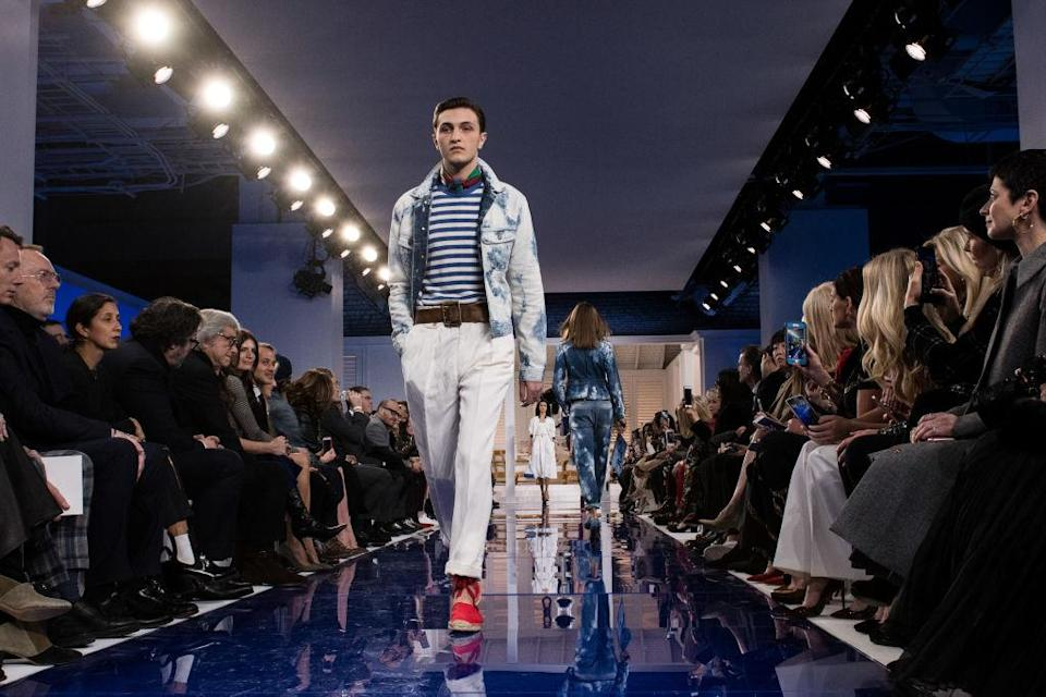 <p>Proving the Hadid clan reign fashion month, Gigi and Bella's brother Anwar took to the runway for Ralph Lauren's AW18 show. <em>[Photo: Getty]</em> </p>
