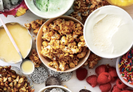 """<p><strong>Recipe: <a href=""""https://www.southernliving.com/recipes/salted-butterscotch-popcorn"""" rel=""""nofollow noopener"""" target=""""_blank"""" data-ylk=""""slk:Salted Butterscotch Popcorn"""" class=""""link rapid-noclick-resp"""">Salted Butterscotch Popcorn</a></strong></p> <p>Flaky sea salt tops this salty-sweet popcorn. Don't be surprised if the tin is finished fast.</p>"""