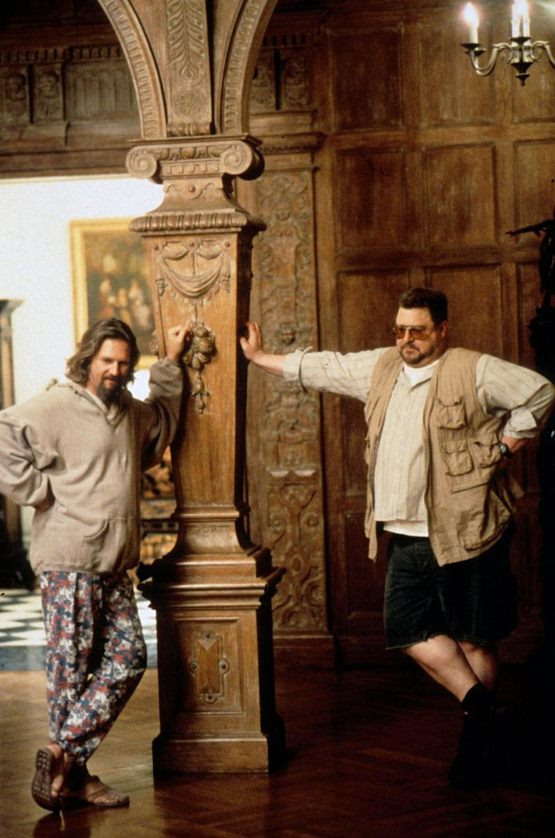 The black and white floor can be seen in the 1998 cult classic The Big Lebowski.