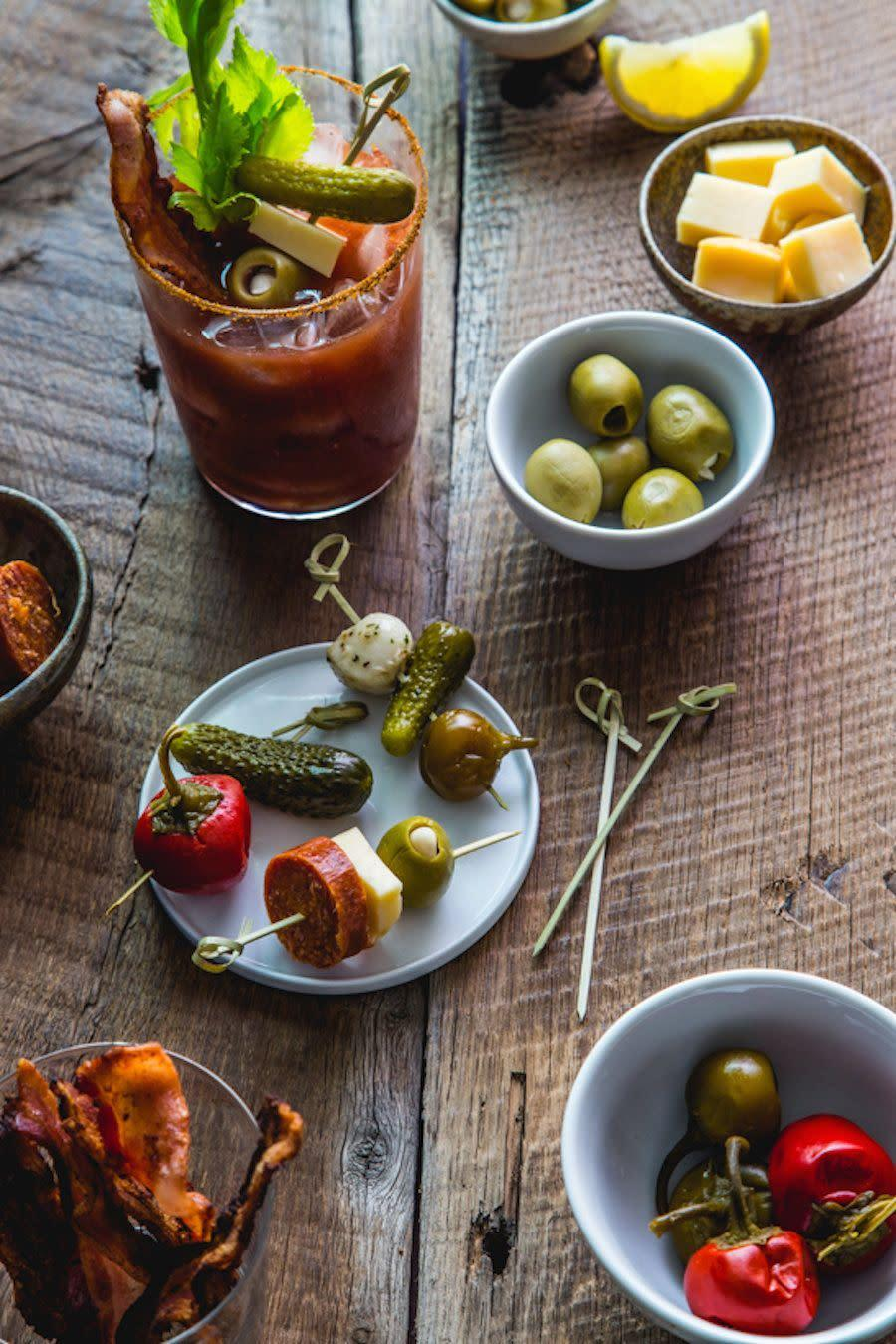 <strong>Get the <span>Bloody Mary Bar recipe </span>from Jelly Toast Blog</strong>