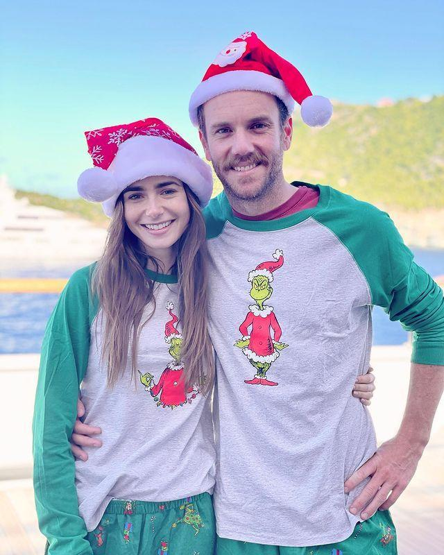 """<p>""""His and hers, Grinch edition. Happy Christmas everybody!...""""</p><p><a href=""""https://www.instagram.com/p/CJO6p5DJIxo/"""" rel=""""nofollow noopener"""" target=""""_blank"""" data-ylk=""""slk:See the original post on Instagram"""" class=""""link rapid-noclick-resp"""">See the original post on Instagram</a></p>"""