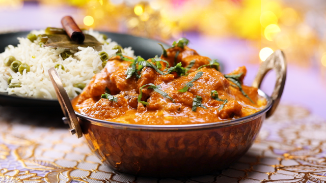Butter Masala Chicken and Pilaf